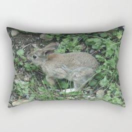 Wild Bunny Rabbit Rectangular Pillow