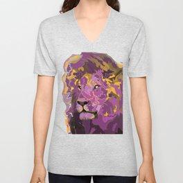 Lion in Royal Colors Unisex V-Neck