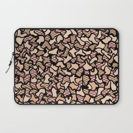 Fishnet and Skin Tone Wobbly Mosaic Tiles Pattern Laptop Sleeve