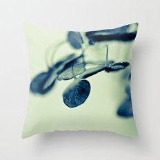Blue in Green Throw Pillow