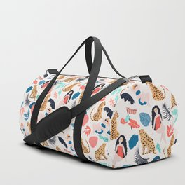 Tropical girls and Cheetah Duffle Bag