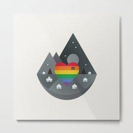 Love & Equality Metal Print