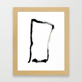 zen square Framed Art Print