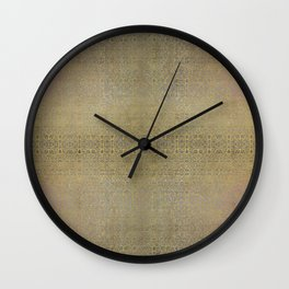 Gold and Silver Leaf Bridget Riley Inspired Pattern Wall Clock