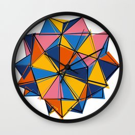 Abstract geometric polygonal crystal Wall Clock