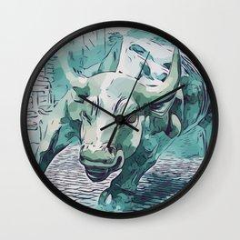 Bull Stock Exchange Bull Market Shares Shareholder Abstract Art Gift Wall Clock