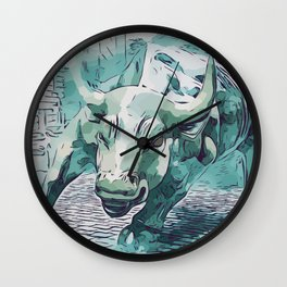 Bull Stock Exchange Bull Market Shares Shareholder Abstract Art Gift Wall Clock