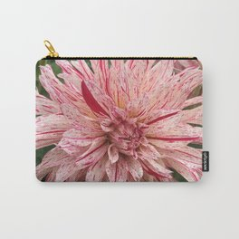 Peppermint Dahlia Carry-All Pouch