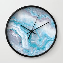 Ocean Foam Mermaid Marble Wall Clock