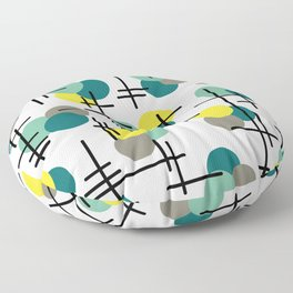 Atomic Age Molecules Floor Pillow