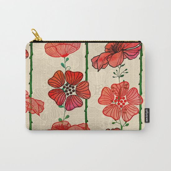 Hanging Poppy Garland Carry-All Pouch