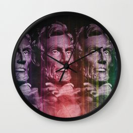 Abraham Lincoln colored Wall Clock