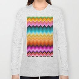 Chevron design fashion 90s Long Sleeve T-shirt