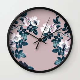 Wild Bee Blackberry Wall Clock
