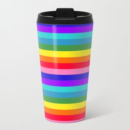 Stripes of Rainbow Colors Travel Mug