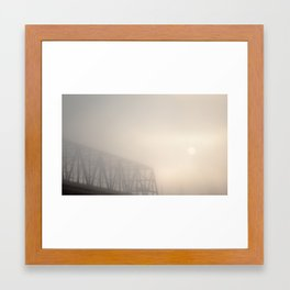 Veiled Sunrise Framed Art Print