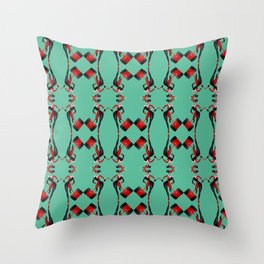 Harley pattern Throw Pillow