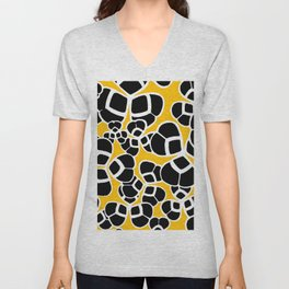 "Koloman (Kolo) Moser ""Textile pattern (Cloverleaf / Shamrock)"" (2) Unisex V-Neck"