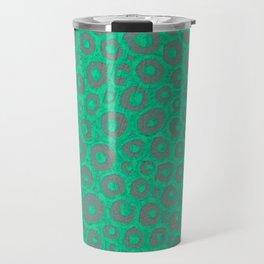 Turquoise dots Travel Mug