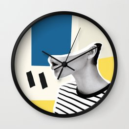 minimal collage Wall Clock
