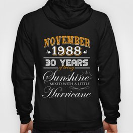 November 1988 Gifts 30 Years Anniversary Celebration Hoody