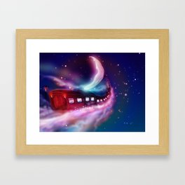 A Trip to the Moon by Locomotive Framed Art Print