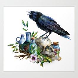 Raven Magick Art Print