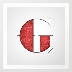 The Letter G Art Print