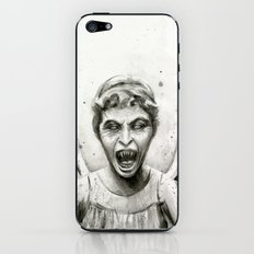 Weeping Angel Watercolor iPhone & iPod Skin