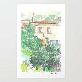 Paesaggio #7 Art Print