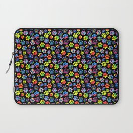 Rainbow Paw Print Watercolor Pattern Laptop Sleeve