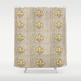 Fleur de crackle Shower Curtain