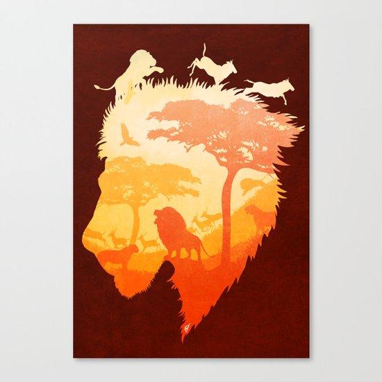 The Soul of a Lion Canvas Print