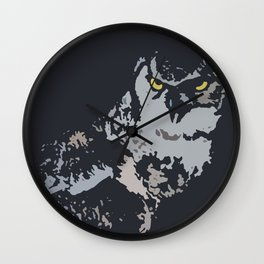 Bold Eagle Owl, Bird Of Prey Print Wall Clock