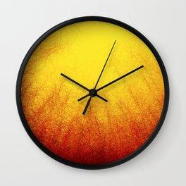 Linear Radial Sunset Wall Clock