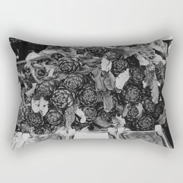 Artichoke on a market in Florence | Vegetables art for in your kitchen | Analog photography black and white art print Art Print Rectangular Pillow