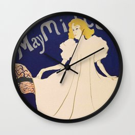"Henri de Toulouse-Lautrec ""May Milton"" Wall Clock"