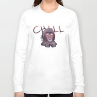 chill Long Sleeve T-shirts featuring CHILL by ThousandPandas