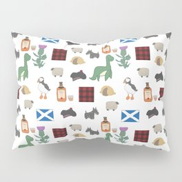 Famous Scottish Icons Pattern Pillow Sham
