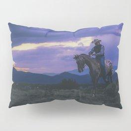 Santa Fe Cowboy on Horse With Teepee Pillow Sham