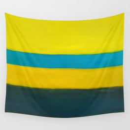 yellow blue Wall Tapestry