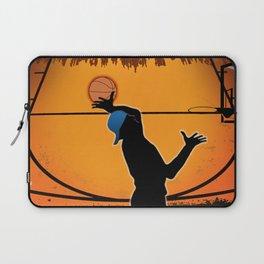Basketball Player Silhouette Laptop Sleeve