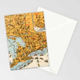 1929 Vintage Map of Ontario  Stationery Cards