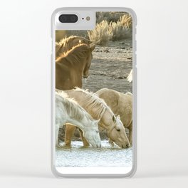 Quenching Their Thirst Clear iPhone Case