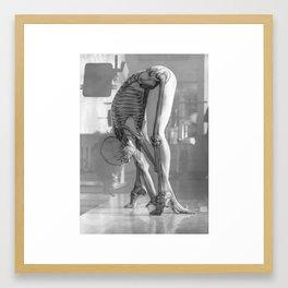 Skeletal Yoga Framed Art Print