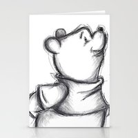 pooh Stationery Cards featuring Insightful Pooh by Makayla Wilkerson
