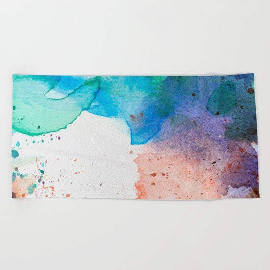 Pastel Color Splash 05 Beach Towel