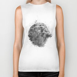 Death Sta Watercolor B&W Biker Tank