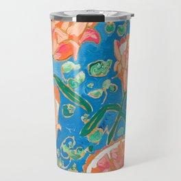 Four Orange Proteas Travel Mug