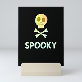 Skull Spooky Halloween mummy Mini Art Print